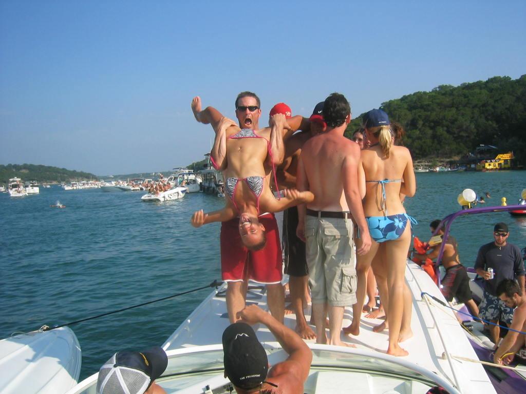 Girls wakeboarding naked