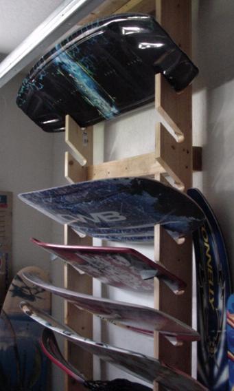 Snowmobile Garage Storage : Wakeboarder wakeboard racks for garage